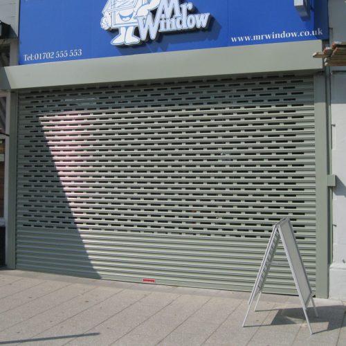 Punched shopfront shutter standard coil 2